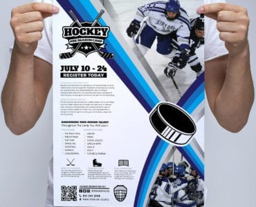 A3 Hockey Club Poster Template