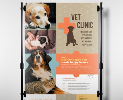 A3 Vet Clinic Poster Template