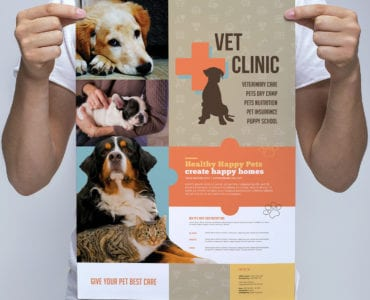 A3 Vet Clinic Poster Template