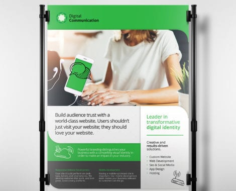 A3 Web Designer Poster Template