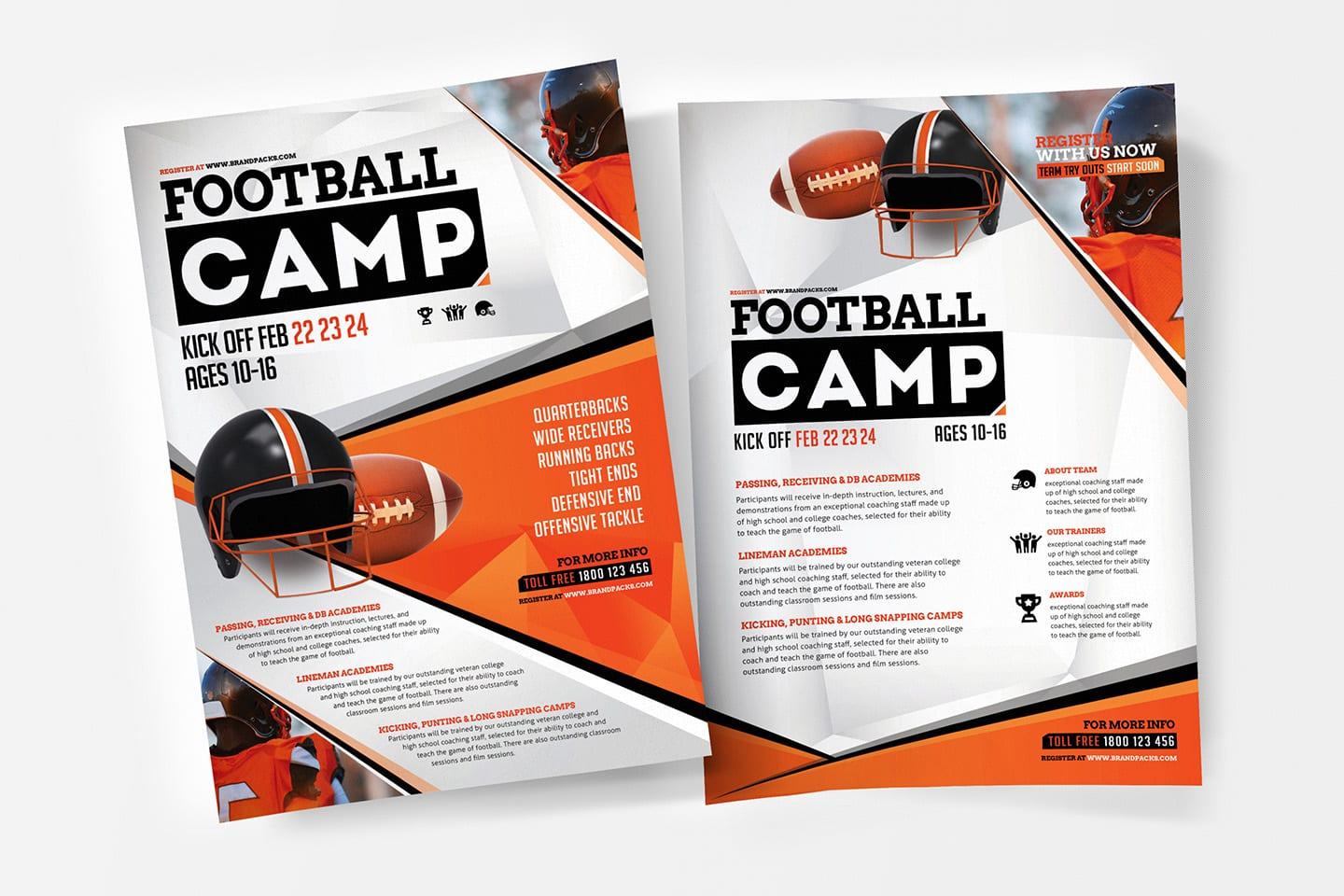 A4 American Football Poster / Advertisement Template