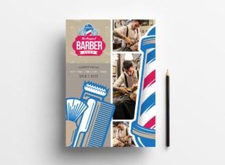A4 Barber's Shop Poster / Advertisement Template