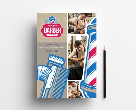 A4 Barber's Shop Poster / Advertisement Template