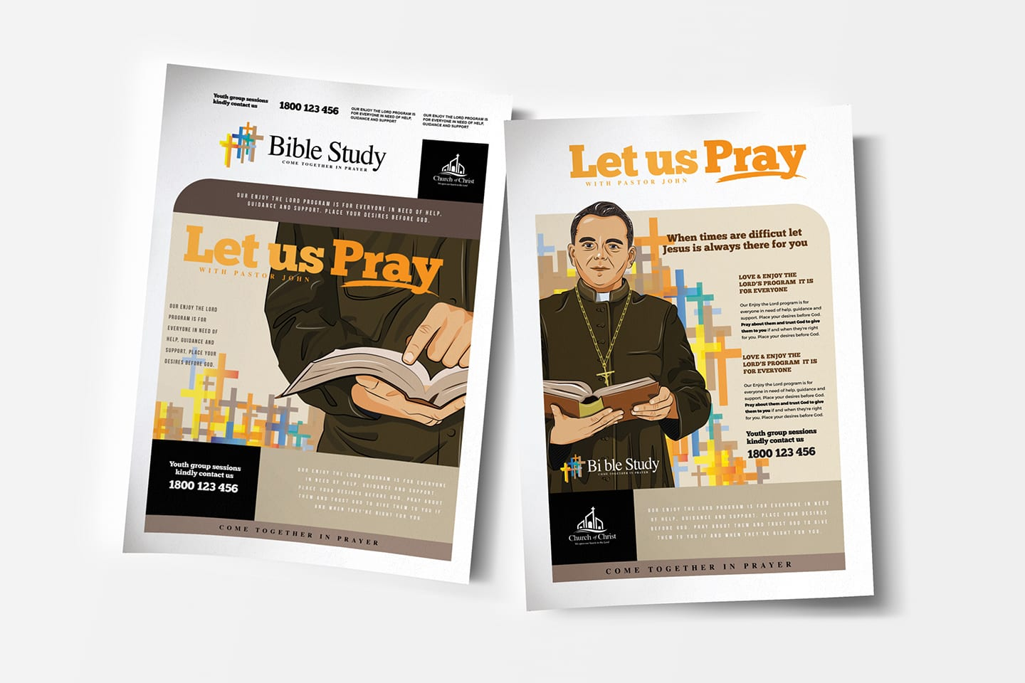 A4 Christian Church Poster Template