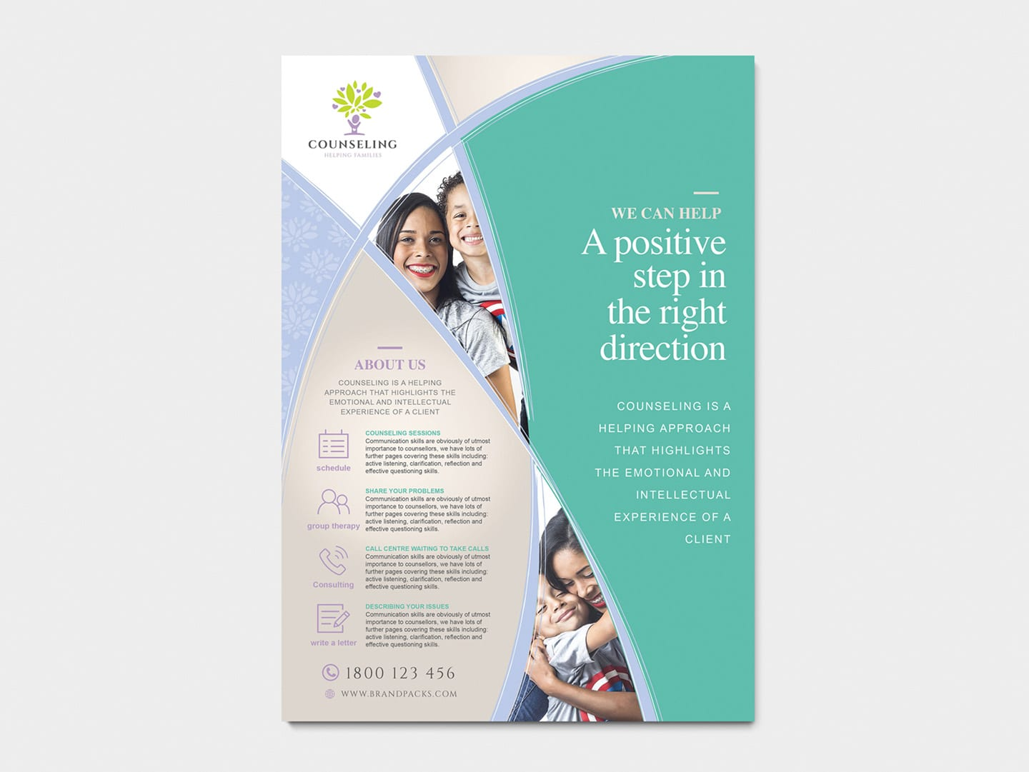 A4 Counselling Service Poster / Advertisement Template in ...