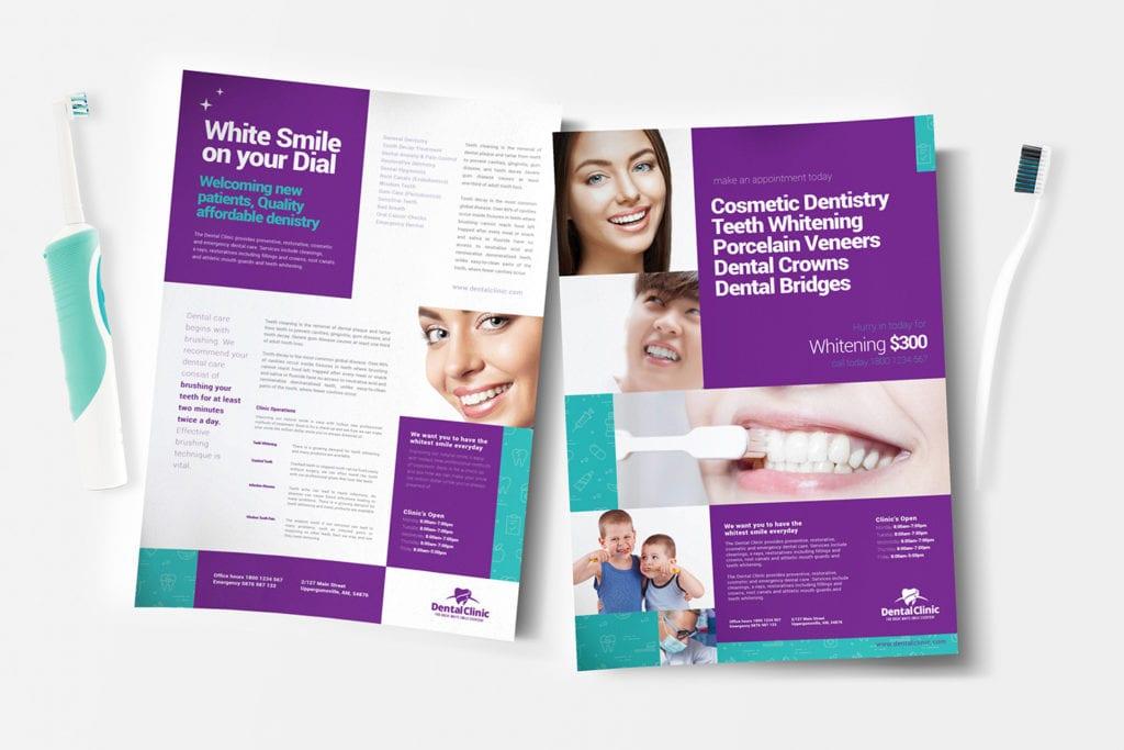 A4 Dental Clinic Poster / Advertisement Templates