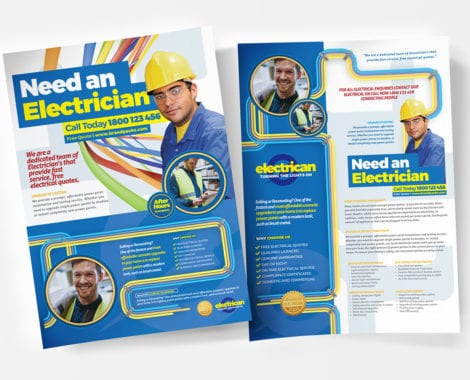 A4 Electrician Poster / Advertisement Template