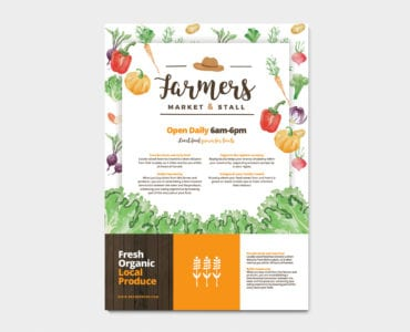 A4 Farmers Market Poster Template