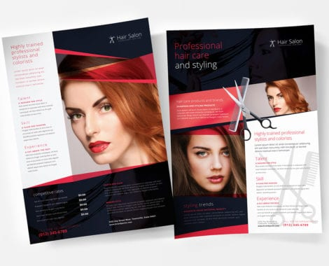 A4 Hair Salon Poster Template