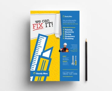 A4 Handyman Poster Template in PSD, Ai & Vector