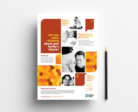 A4 Health Insurance Poster Template
