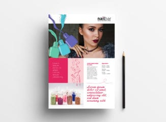 A4 Nail Salon Poster / Advertisement Template