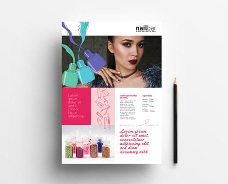 A4 Nail Salon Poster / Advertisement Template