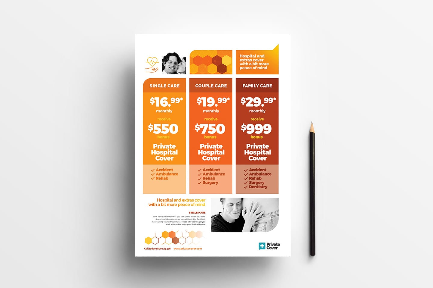 A4 Price Sheet Poster Template