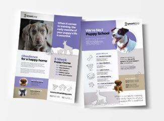 A4 Puppy School Poster / Advertisement Template