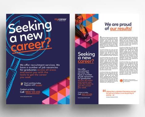 A4 Recruitment Agency Poster / Advertisement Template