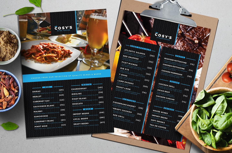 A4 Restaurant Menu Template