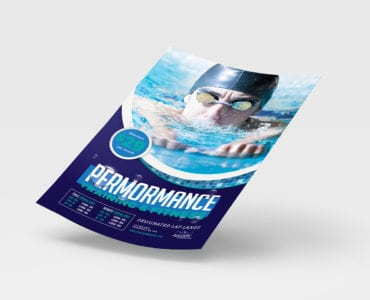 A4 Swimming Centre Poster Template