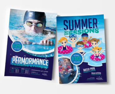 A4 Swimming Pool Poster Templates