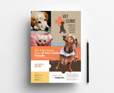 A4 Vet Clinic Poster / Advertisement Template