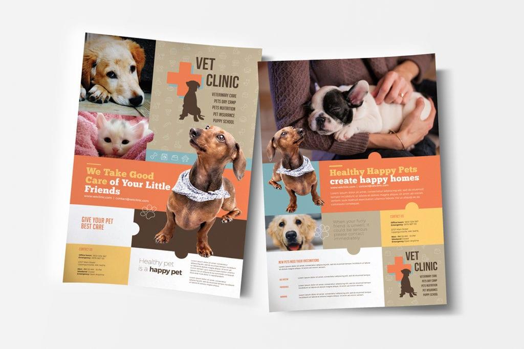 A4 Vet Clinic Poster / Advertisement Template