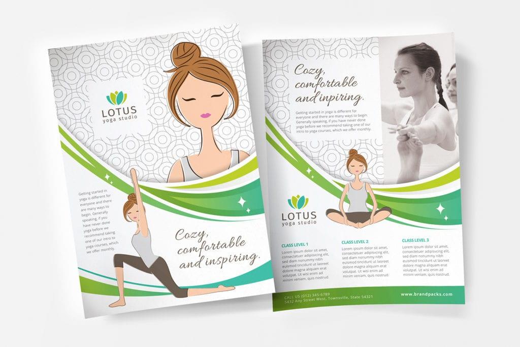 A4 Yoga Studio Poster Template