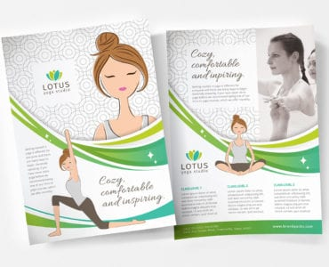 A4 Yoga Studio Poster Template