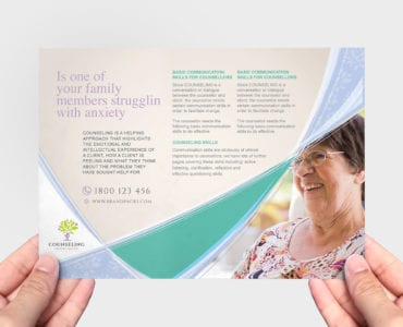 A5 Counselling Service Flyer Template