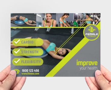 A5 Female Fitness Flyer Template