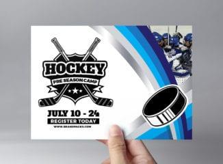 Hockey Club Flyer Template