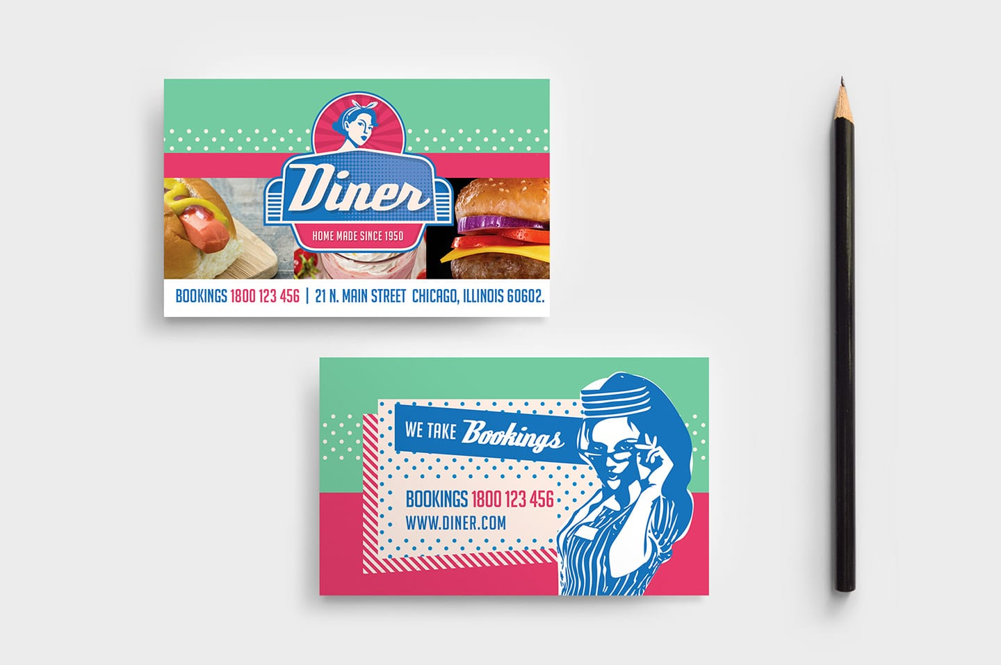 American Diner Business Card Template