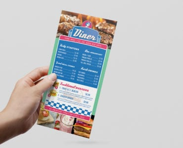 American Diner DL Rack Card Template
