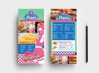 American Diner DL Rack Card Template