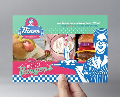 American Diner Flyer Template