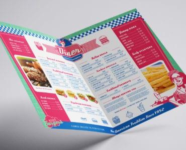 American Diner Folding Menu Template