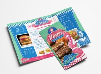 American Diner Tri-Fold Brochure Template