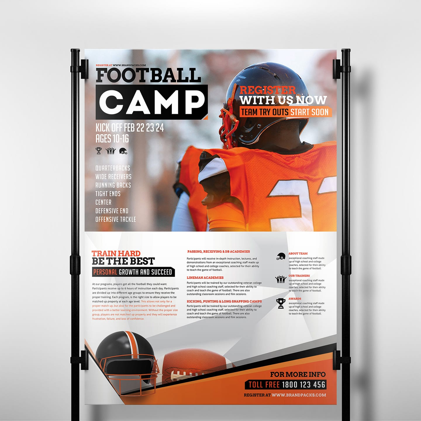 American Football Poster Template