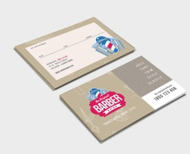 Barber's Shop Business Card Template