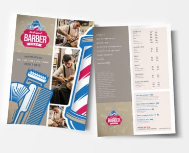 Barber's Shop Poster / Advertisement Templates