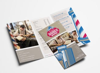 Barber Shop Tri-Fold Brochure Template