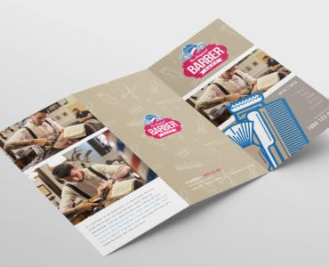 Barber Shop Tri-Fold Brochure Template