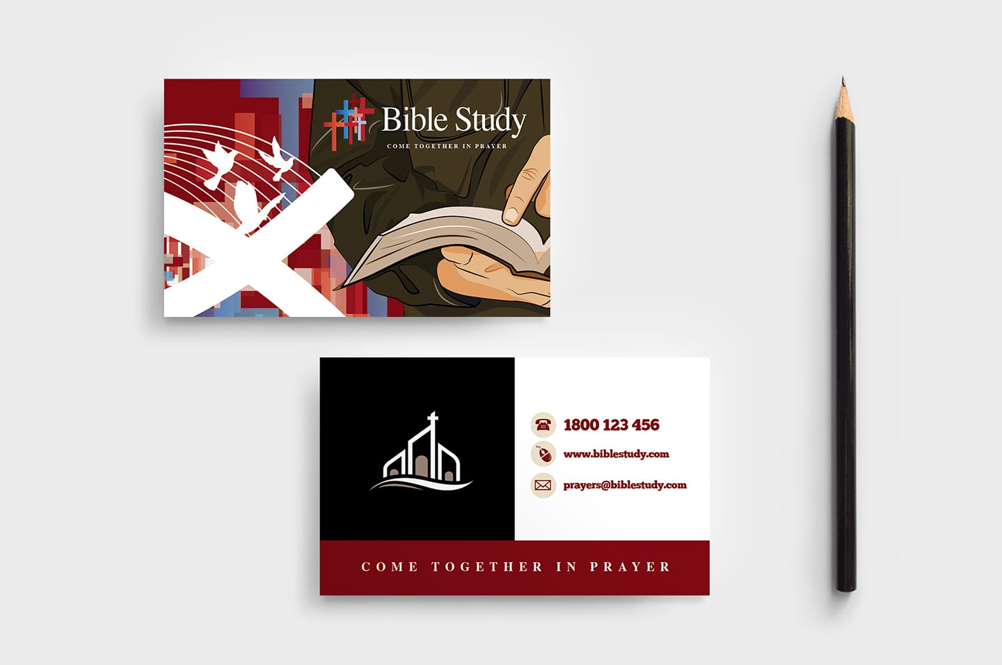Christian Church Business Card Template
