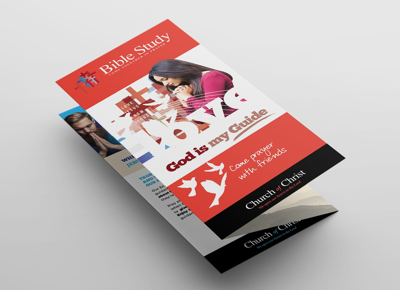 christian church trifold brochure template in psd  ai