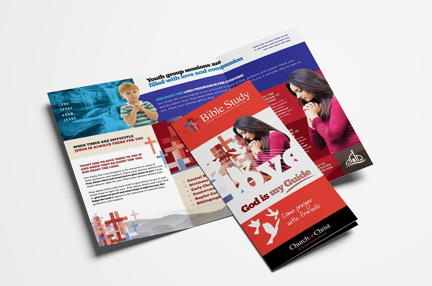 Christian Church Tri-Fold Brochure Template