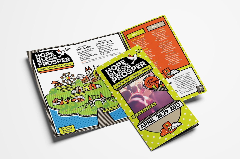 Christian Festival Tri-Fold Brochure Template