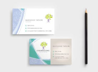 Counselling Business Card Template