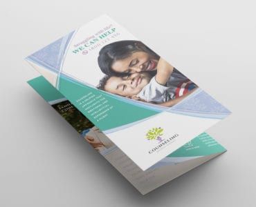 Counselling Tri-Fold Brochure Template