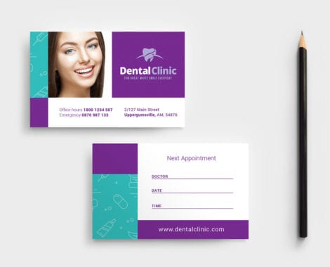 Dental Clinic Appointment Card Template