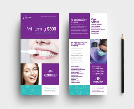 Dental Clinic DL Rack Card Template