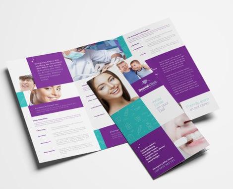 Dental Clinic Tri-Fold Brochure Template